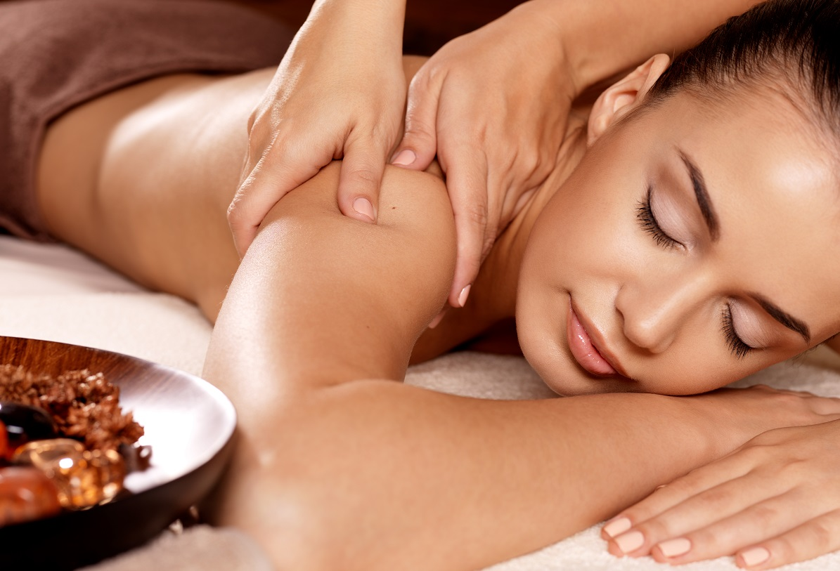 Woman having a therapeutic massage