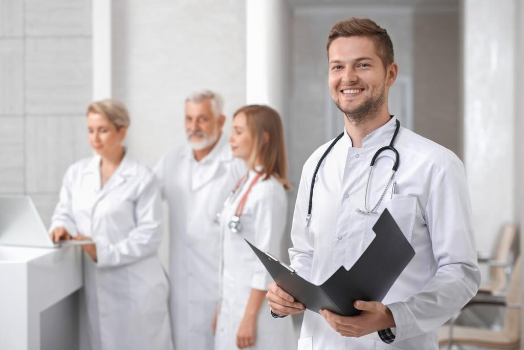 Medical staff at a hospital