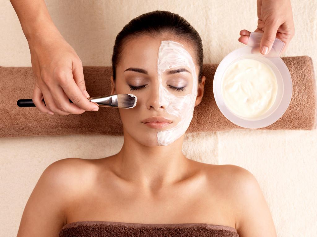 Beauty routine concept