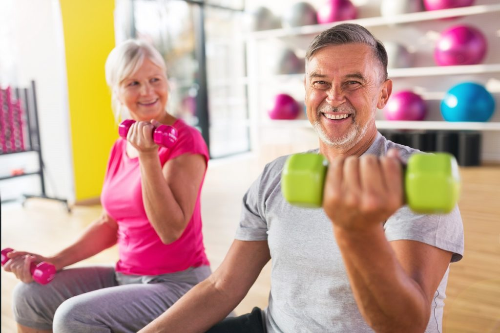 parents working out